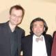 Paulas Hertelis su dirigentu Joji Hattori ir koncertmeisteriu Ludwigu Mülleriu. Asmeninio archyvo nuotr.