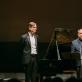 Pianistas Vikinguras Olafssonas (kairėje) ir baritonas Matijas Goerne. Organizatorių nuotr.