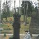 Prie Abdono Lietuvninko kapo Antakalnio Menininkų kalnelyje. Paminklo skulptorius Ipolitas Užkurnys.  Nijolės Lietuvninkienės asmeninio archyvo nuotr.