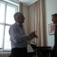 Prof. Josef Wallnig ir baritonui Mantas Gacevičius. Prof. Petro Kuncos nuotr.