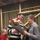 Rūta Prusevičienė jubiliejaus proga sveikina LNSO inspektorių Marių Balčytį