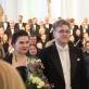 "Festivalio ""Resurrexit"" akimirka. Viktorija Miškūnaitė, Tomas Ambrozaitis, Juozas Domarkas. Organizatorių nuotr."