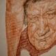 """Rimvydo Mulevičiaus kūrinio fragmentas, galerijoje """"Arka"""" grupinė paroda """"Figūra 2020. Piešinys / kūrinys"""". Rengėjų nuotr."""