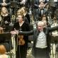 Gintaras Rinkevičius ir atlikėjai po koncerto. D. Matvejevo nuotr.