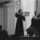 Stasys Vainiūnas jubiliejiniame koncerte su dukra Audrone. 1979 m. Nuotrauka iš LMTA archyvo