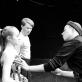 """Scenografė ir kostiumų dailininkė Jekaterina Zlaja derina šokio spektaklio  """"Romeo ir Džuljeta"""" rūbus. J. Lebedevos nuotr."""