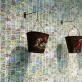 """Severija Inčirauskaitė-Kriaunevičienė, instaliacijos """"Donaldo nuotykiai / Donald Bubble Gum"""" fragmentas. 2016 m. V. Nomado nuotr."""