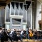 Mindaugas Ba�kus, Modestas Barkauskas ir Nacionalinis simfoninis orkestras. D. Matvejevo nuotr.