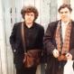 Su dailininku Stasiu Eidrigevičiumi. Apie 1995-1996 m. Iš Stasio Eidrigevičiaus asmeninio archyvo