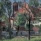 """Viktoras Vizgirda, """"Bernardinų bažnyčia nuo Vilnelės"""". 1943 m. LDM nuos."""