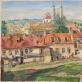 """Rafaelis Chvolesas, """"Vilniaus priemiestis su Misionierių bažnyčia"""". LDM nuos."""