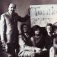 """""""Tonikai"""" – 10 iš kairės: Adeodatras Tauragis, Jonas Bruveris, Živilė Ramoškaitė, Irena Mikšytė, Julija Adamkevičienė, Irena Grybaitė, operatorius Jurgis Vaitulevičius. 1974 m. Nuotrauka iš asmeninio archyvo"""