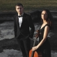 """Trio """"Agora"""": Robertas Lozinskis, Natania Hoffman, Žilvinas Brazauskas. M. Penkūkū nuotr."""