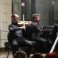 Fortepijoninis trio – Adam Bruderek (smuikas), Jan Lewandowski (violončelė), Daniel Ziomko (fortepijonas). A. Gabalytės nuotr.