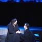 """Violeta Urmana ir Robertas Deanas Smithas Vienos valstybinės operos spektaklyje """"Tristanas ir Izolda"""". Vienos valstybinės operos nuotrauka"""