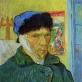 """Vincent van Gogh, """"Autoportretas su nupjauta ausimi"""". 1889 m. Vincento van Gogho muziejus"""