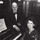 Melita Diamandidi ir Vincentas Kuprys Kauno filharmonijoje. Asmeninio archyvo nuotr.