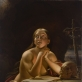 """V. Neveravičius, """"Atgailaujanti Šv. Marija Magdalietė"""", apie 1842, drobė, aliejus, 117 x 90, 5 cm, LDM"""