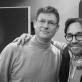 Egidijus Buožis ir Al Di Meola. Nuotrauka iš asmeninio E. Buožio archyvo
