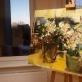 """Dalia Skridailaitė, """"Keturios gėlių soduose"""", parodos vaizdas. 2016 m."""
