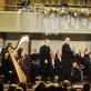 """Simon Perčič (Slovėnija), Jacques Mauger (trombonas, Prancūzija), Kauno pučiamųjų instrumentų orkestras """"Ąžuolynas"""". D. Čėplos nuotr."""