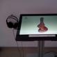 Interaktyvus ekranas, kuriuo galima paklausyti A. Mončio švilpių. D. Zovienės nuotr.