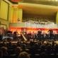 """Jacques Mauger (trombonas, Prancūzija), dirigentas Simon Perčič (Slovėnija), Kauno pučiamųjų instrumentų orkestras """"Ąžuolynas"""". D. Čėplos nuotr."""