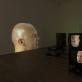 "Bruce'o Naumano instaliacijos ""Anthro/Socio (Rinde Spinning) / Antro/socio (besisukantis Rinde)"" (1992) vaizdas ""Tate Modern"". M. Greenwood nuotr. © Bruce Nauman / ARS, NY and DACS, London 2020"