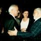 "Bronius Kutavičius, Rūta Stanevičiūtė, Krzysztofas Droba operos ""Lokys"" premjeroje. LNOBT, 2000 m."