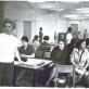 Iš kairės: Lili Ramanauskienė-Navickytė, Nijolė Šimkūnaitė, Genovaitė Sabaliauskaitė, Jadvyga Jovaišaitė-Olekienė, Natalija Makarova-Sodeikienė, Aliodija Ruzgaitė. Nuotrauka iš asmeninio archyvo