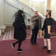 Rengiantis Baltijos šalių simbolizmo parodai Nepriklausomybių atkūrimo šimtmečiui Paryžiuje. Susitikimas Latvijoje, Rundalės pilyje su Rudolphe Rapetti - parodos generaliniu kuratoriumi. N.Simėnienės nuotr.