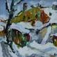 """Rafaelis Chwolesas. """"Žiema"""". 1958 m."""