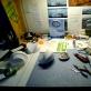 Aleksandros Kašubos darbo stalas, Akmenų kalvos namas, Naujosios Meksikos valstija, apie 2010 m. J.S. Miller nuotr. Menininkės skaitmeninis archyvas