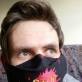 Eglės Gandos Bogdanienės kurta apsauginė kaukė. 9 karantino diena