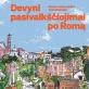 """Knygos """"Devyni pasivaikščiojimai po Romą"""" viršelis"""