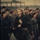 """Kadras iš filmo """"Darbininkai išeina iš fabriko"""""""