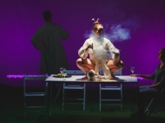 """Scena iš spektaklio """"R.E.M."""". L. Butkevičiaus nuotr."""