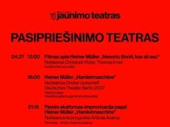 Renginių Jaunimo teatre programa