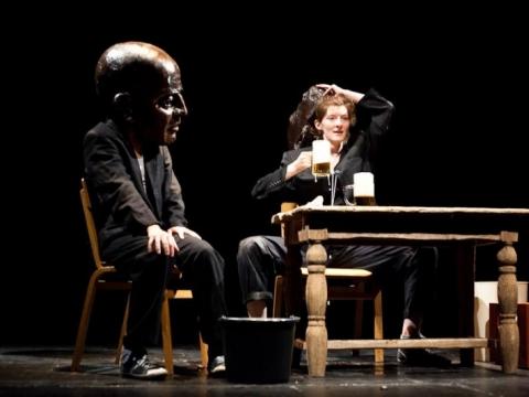"""Scena iš spektaklio """"Antiwords"""". Organizatorių nuotr."""
