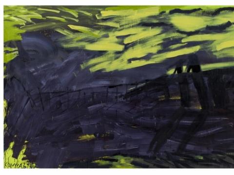 """Rimvidas Jankauskas-Kampas, """"Vakarai Ventės rage"""". 1993 m. Nacionalinio M.K. Čiurlionio muziejaus nuosavybė"""