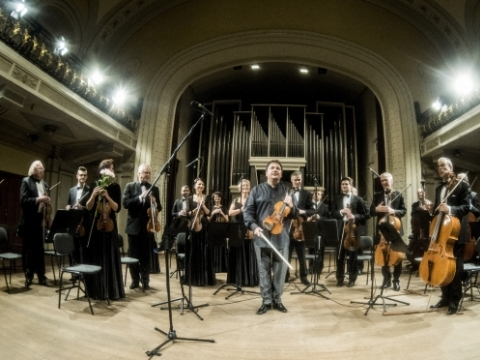 Sergejus Krylovas ir Lietuvos kamerinis orkestras. LNF archyvo nuotr.